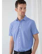 Mens Gingham Cofrex/Pufy Wicking Shortsleeve Shirt