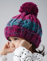 Infant Corkscrew Pom Pom Beanie