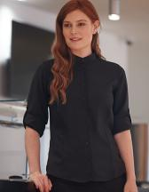 Ladies Mandarin Shirt Roll Tab Sleeve