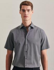 Mens Shirt Tailored Fit Shortsleeve