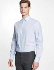 Mens Shirt Tailored Fit Check/Stripes Longsleeve