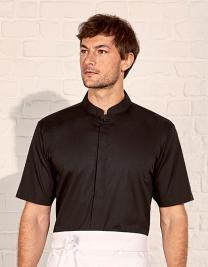 Men`s Bar Shirt Mandarin Collar Short Sleeve
