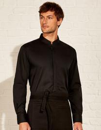 Mens Bar Shirt Mandarin Collar Long Sleeve
