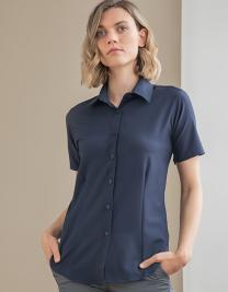 Ladies` Wicking Short Sl. Shirt