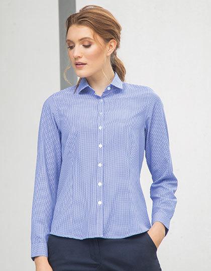 Ladies Gingham Cofrex/Pufy Wicking L/S Shirt