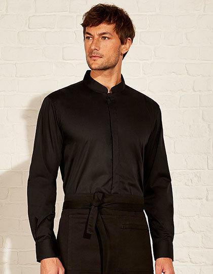 Men`s Bar Shirt Mandarin Collar Long Sleeve